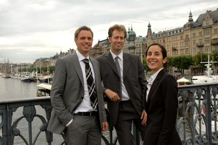 Marco Giertz, Fredrik Schönfeld and Diana Backelin